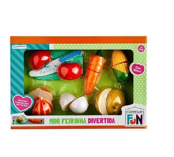 Creative Fun Mini Feirinha Divertida 6 Legumes De Velcro
