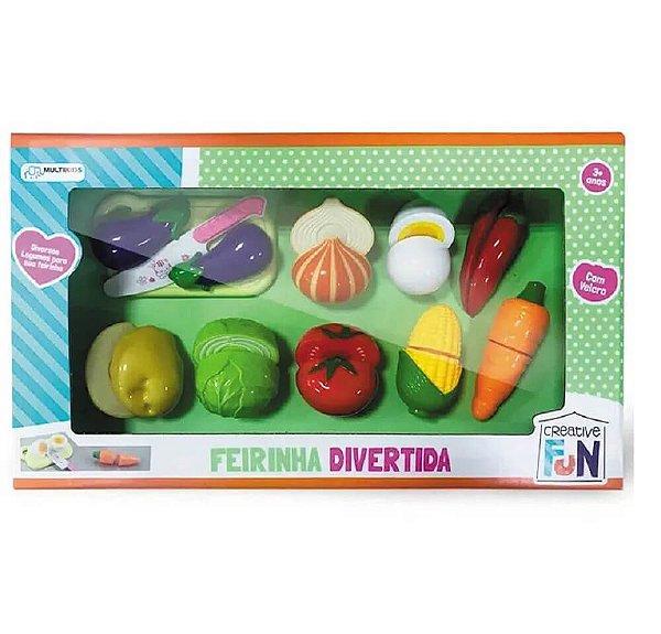 Creative Fun Feirinha Divertida 9 Legumes De Velcro