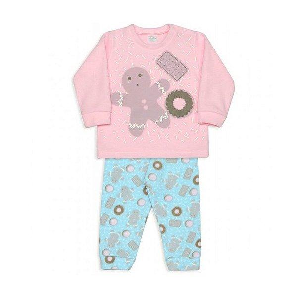 Pijama infantil Dedeka Soft brilha no escuro Biscoito