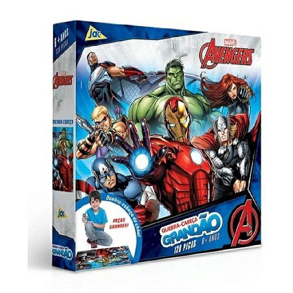 Quebra-cabeça Grandão 120 Peças Os Vingadores Avengers Jak