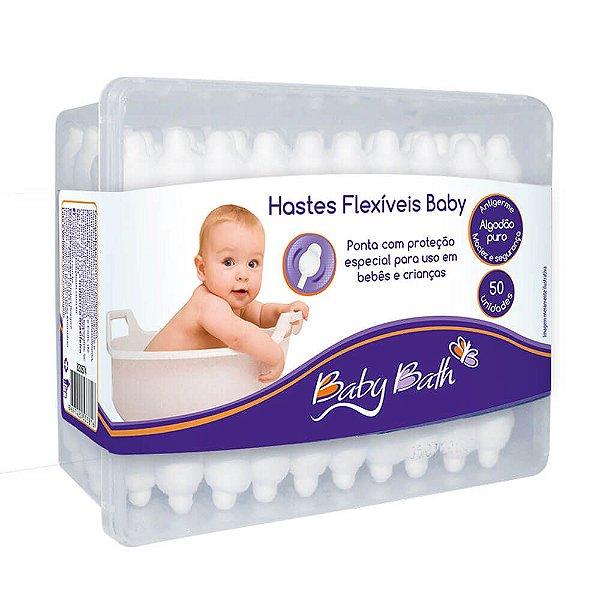 Hastes Flexíveis De Algodão 50 Unidades Baby Bath