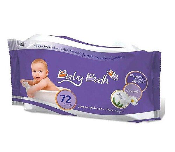 Lenços Umedecidos 72 Unidades Baby Bath A Base D' Àgua