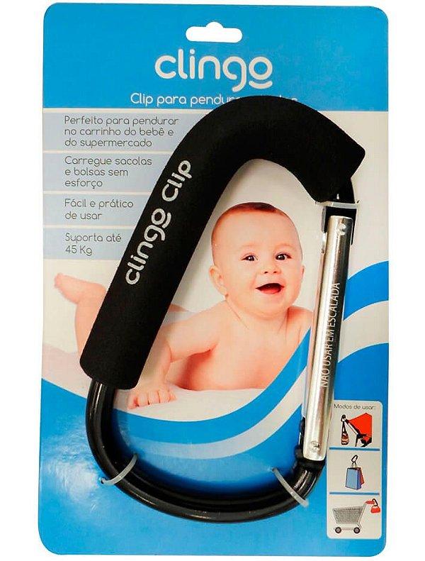 Gancho Pendurar Bolsa Carrinho De Bebê Ate 45kg Clip Clingo