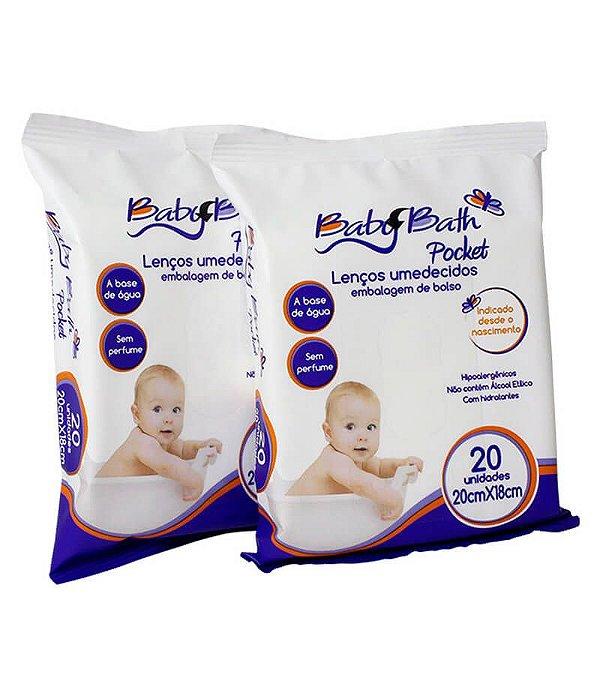 40 Lenços Umedecidos Pacote De Bolso A Base D'água Baby Bath