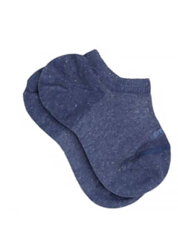 Meia infantil soquete Lupo azul jeans sapatilha