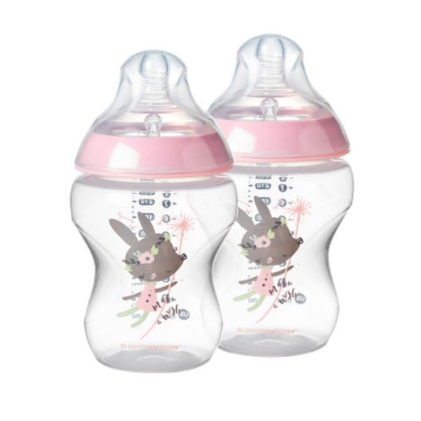 2 Mamadeiras Closer To Nature 260ml Tommee Tippee Rosa