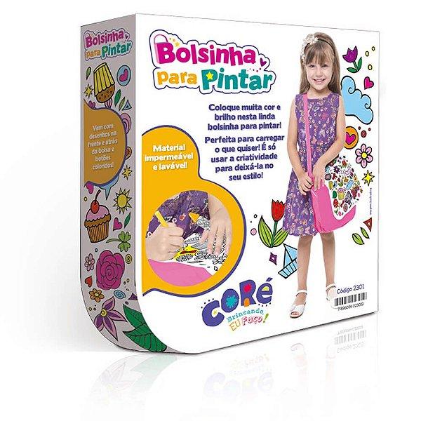 Bolsa Infantil De Pintar Transversal Lavável + Giz E Glitter