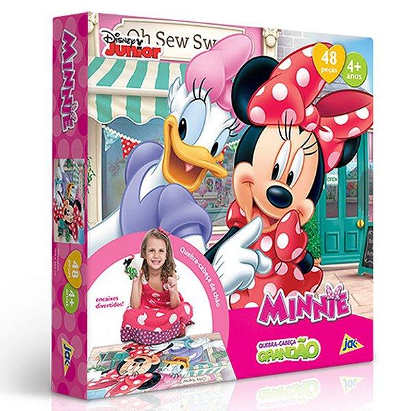 Quebra Cabeça Minnie Mouse Bowtique 48 Pçs Margarida Toyster