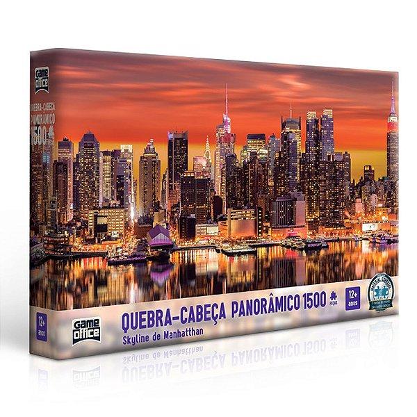 Quebra-cabeça 1500 Peças Skyline Manhattan Panorâmico