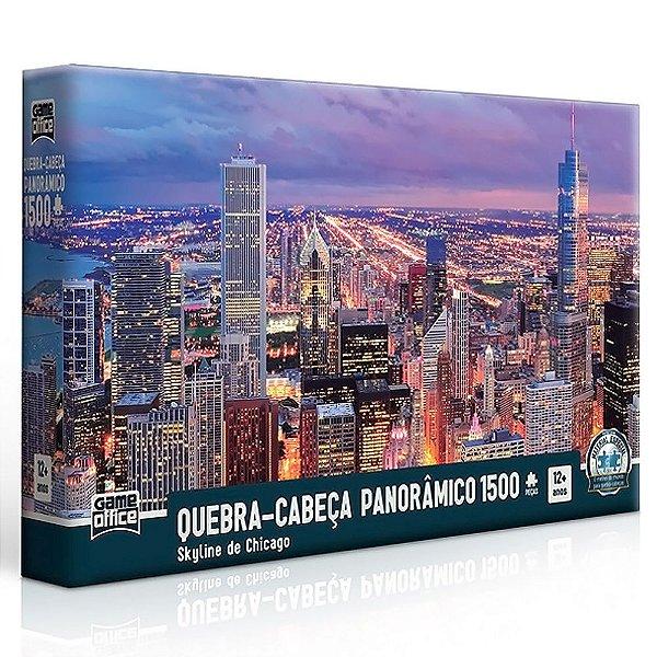 Quebra-cabeça 1500 Peças Skyline De Chicago Panorâmico