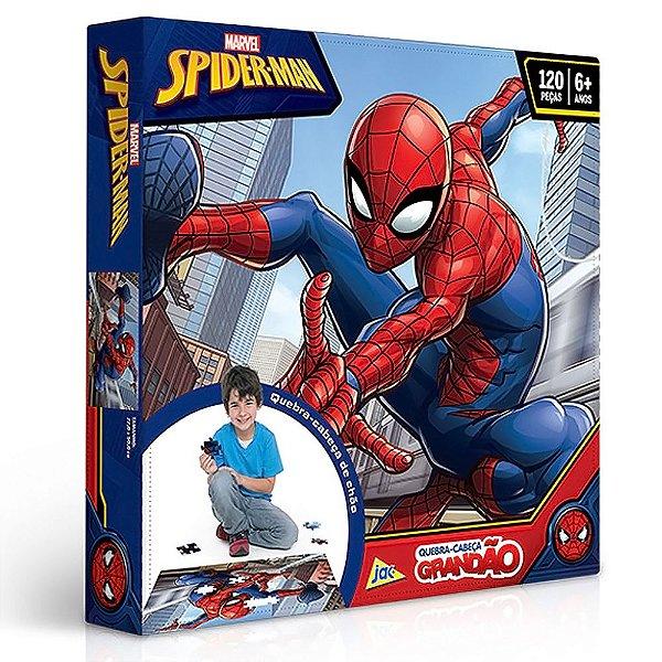 Homem Aranha Quebra-cabeça Grandão 120 Peças Superman Jak