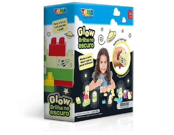 Blocos de Montar Brilha no Escuro Glow 40 Peças Tand