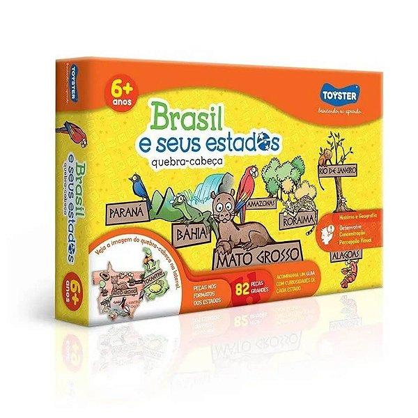 Quebra-cabeça Educativo 82 Peças Brasil E Seus Estados