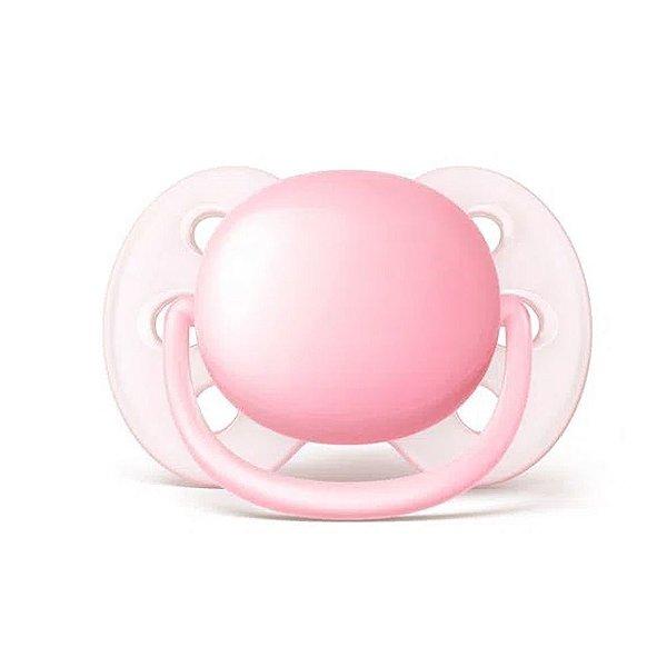 Chupeta Avent Ultra Soft Lisa 0-6 Meses Rosa