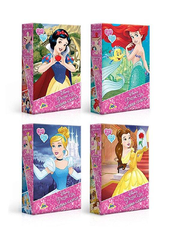 4 Quebra-Cabeças 240 Peças Princesas Disney Jak