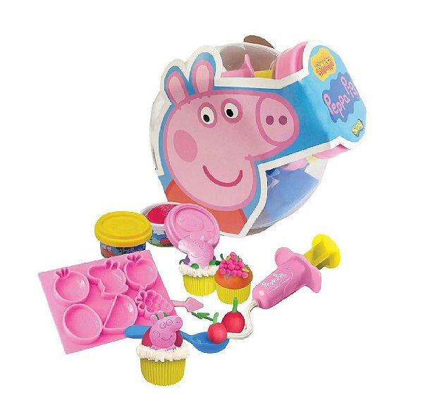 Massa de Modelar Peppa Pig Festa Do Cupcake