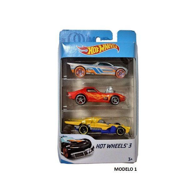 Hot Wheels Conjunto 3 Carrinhos Sortidos