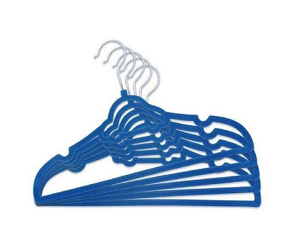 Kit 5 Uni Cabide Infantil Carrinho Azul Escuro Clingo