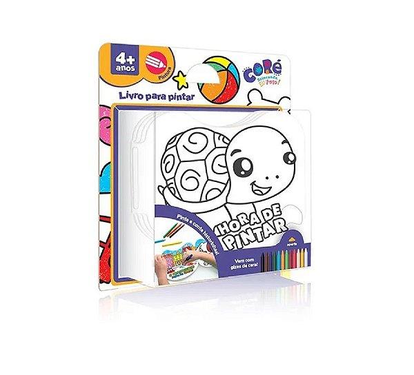 Livro De Banho Para Pintar Animais Com Giz De Cera Lavável