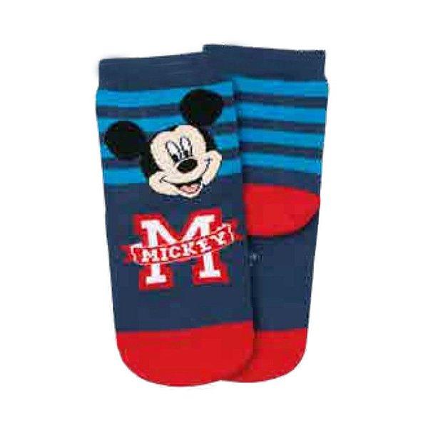 Meia Disney KM Mickey Azul Listrada Lupo