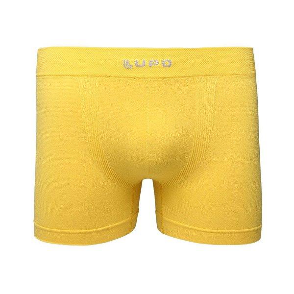 Cueca Lupo Boxer Micromodal Sem Costura Amarela