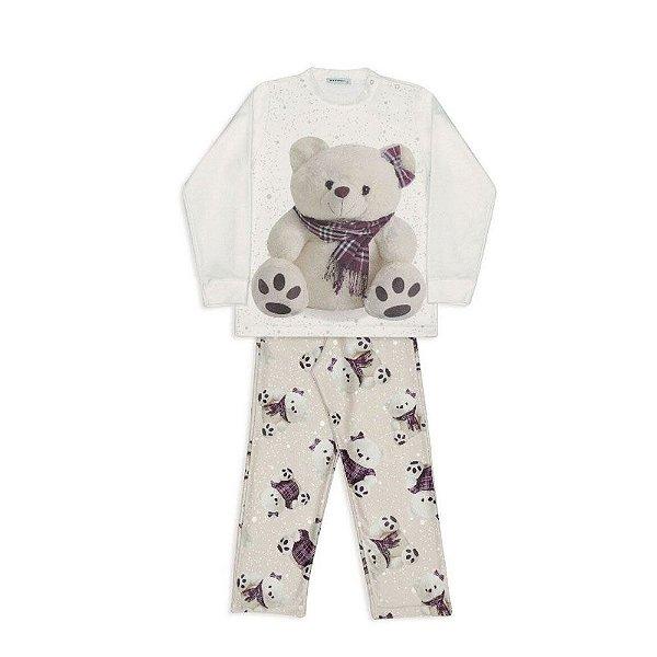Pijama bebê Dedeka  pijama de soft ursa xadrez