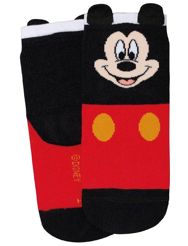 Meia Lupo Disney Mickey Lupo Meia infantil PRETA