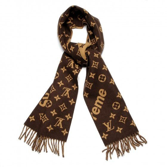Cachecol Louis Vuitton X Supreme Monogram Scarf