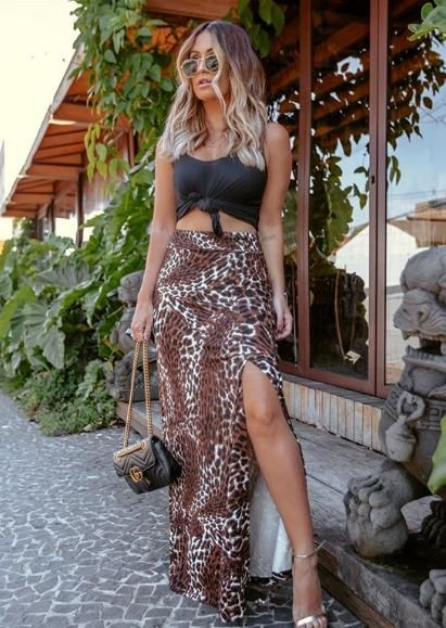 Saia Longa Animal Print