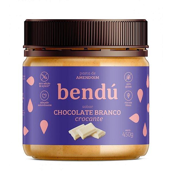Pasta de Amendoim Chocolate branco crocante (450g) - Bendú