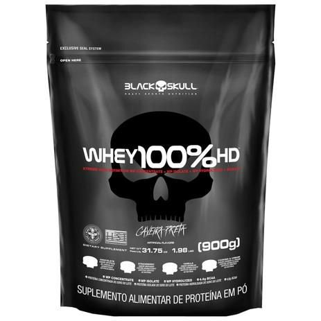 Whey 100% HD (900g) Refil - Black Skull