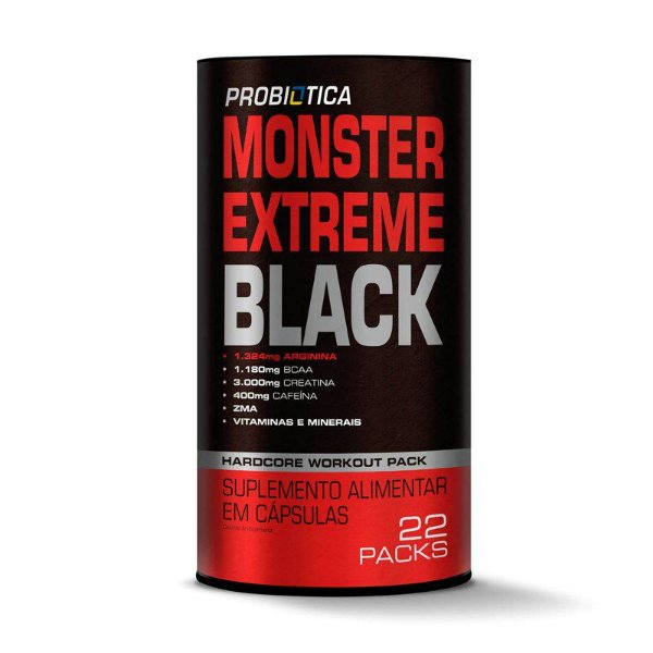 Monster Extreme Black (22 packs)- Probiótica