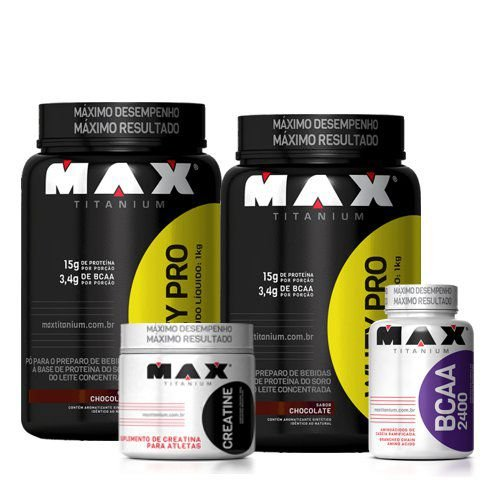 Kit 2 Whey Max - MAX TITANIUM