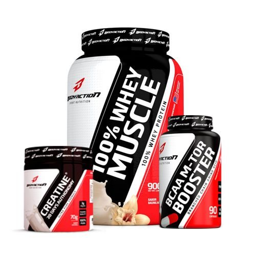 Kit  Whey Muscle - Body Action