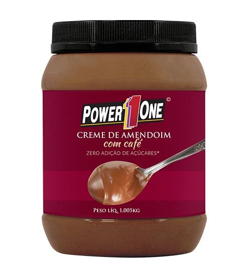 CREME DE AMENDOIM COM CAFÉ (1,005KG) - POWER