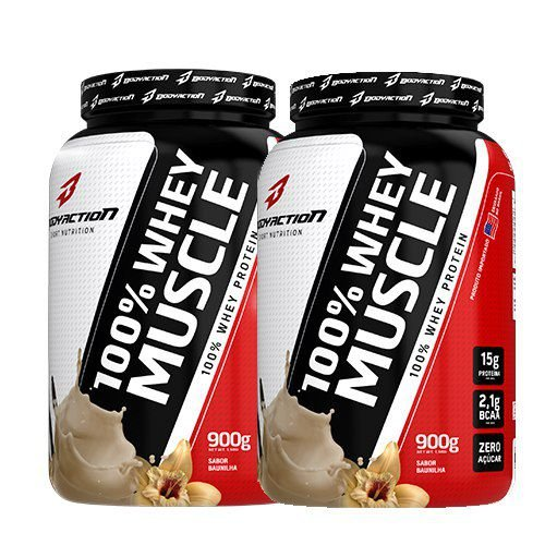 2X 100% Whey Muscle (900g) - Body Action