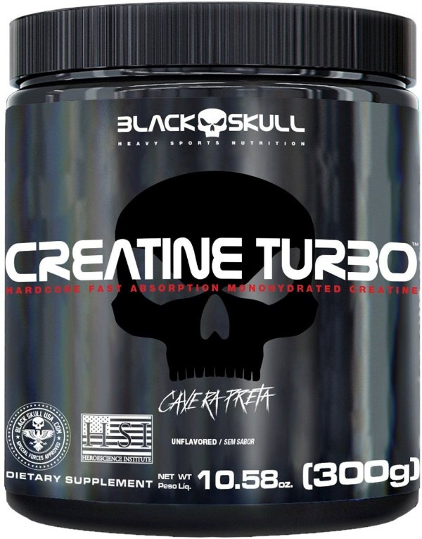 Creatina Turbo (300G) - Black Skull