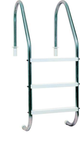 Escada aço inox com degraus de plástico Viva Vida
