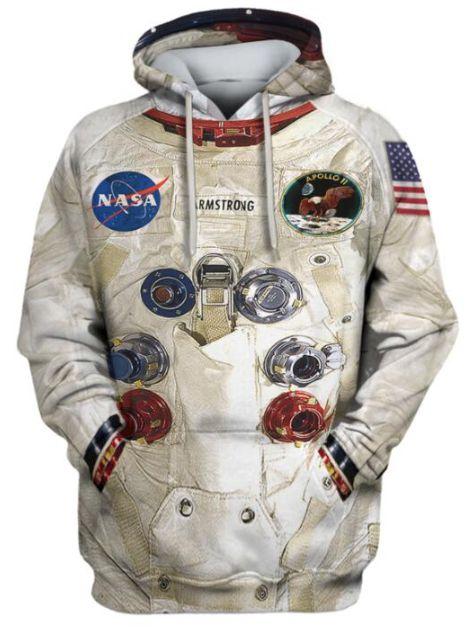 Blusa De Frio 3d Full  Armstrong Space EMU Roupa De Astronauta Espaço