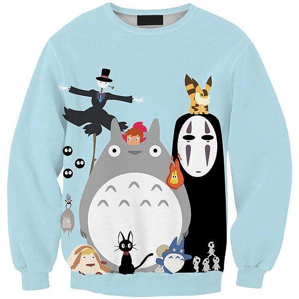 Blusa Moletom Careca 3d Full Anime Meu Amigo Totoro