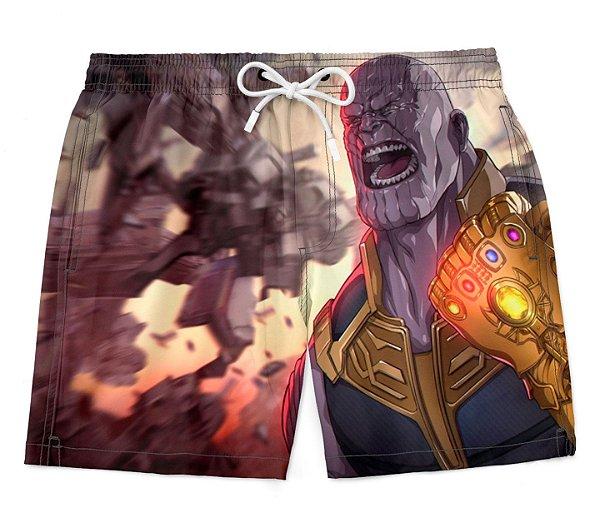 Bermuda Praia Vingadores Avengers Thanos Manopla