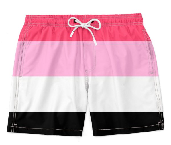 Bermuda Praia Unissex Orgulho Lgbtq Bandeira Reciprossexual