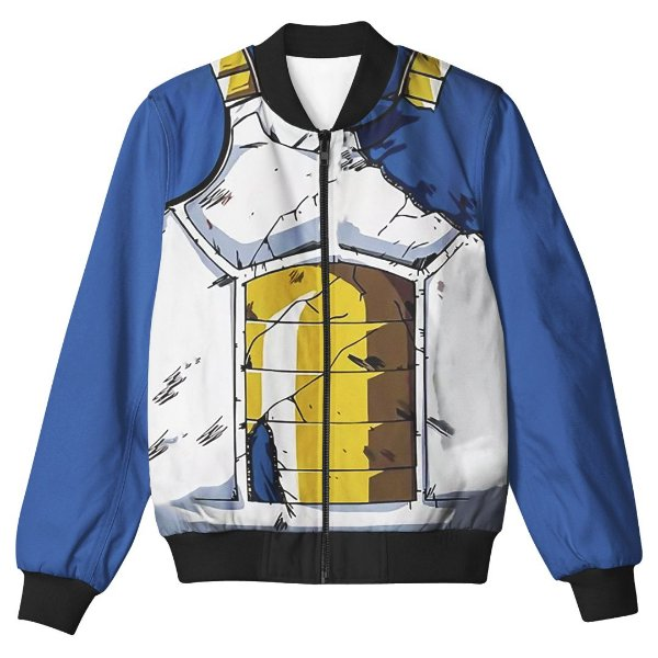 Jaqueta Bomber Com Bolsos Dragon Ball Z Vegeta Uniforme