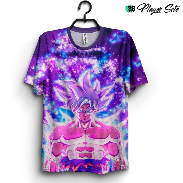 Camiseta 3d Full Dragon Ball Goku Neon Colors
