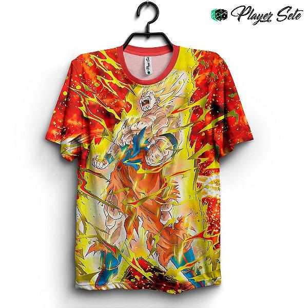Camiseta 3d Full Dragon Ball Goku Saiyajin