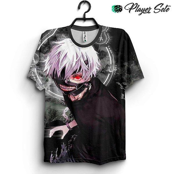 Camiseta 3d Full Anime Tokyo Ghoul Kaneki Ken