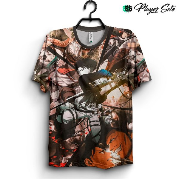 Camiseta 3d Full Anime Attack On Titan Levi