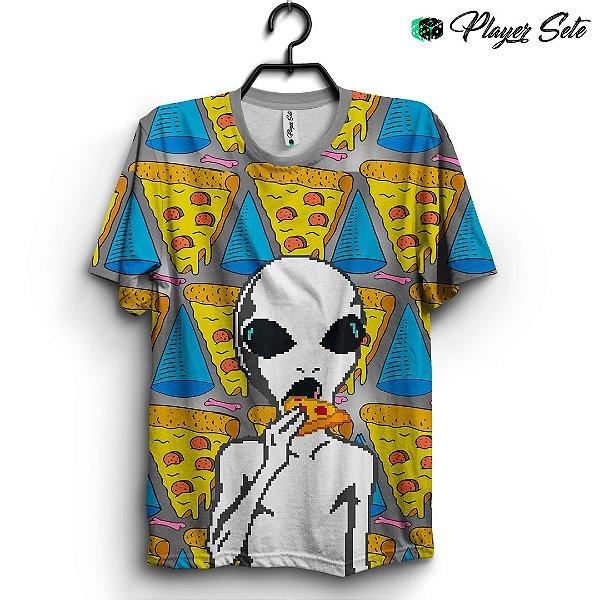 Camiseta 3d Full Pizza Das Galaxia
