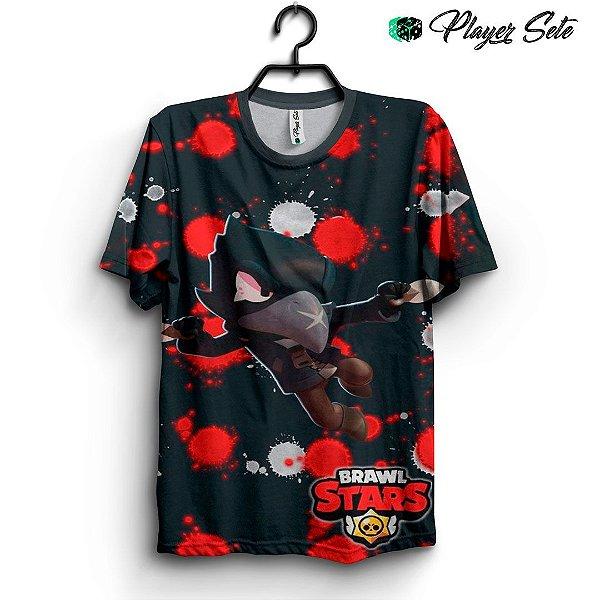 Camiseta 3d Full Jogo Brawl Stars Crow