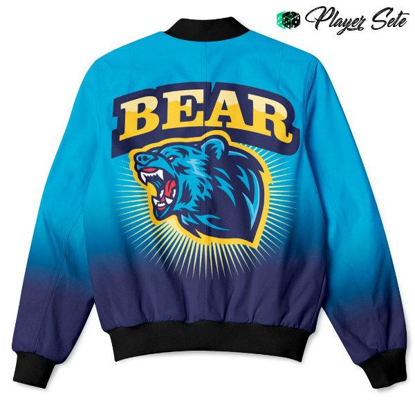 Jaqueta Bomber Com Bolsos Urso Bear